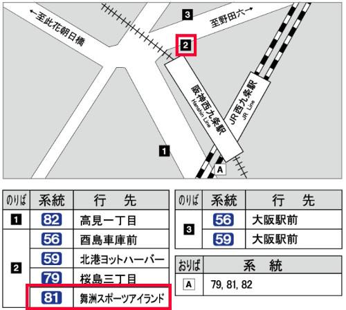 西九条駅 バス停