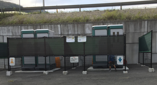 JR旧福知山線の廃線敷 トイレ(生瀬)