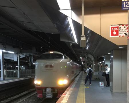 サンライズ出雲 大阪駅入線