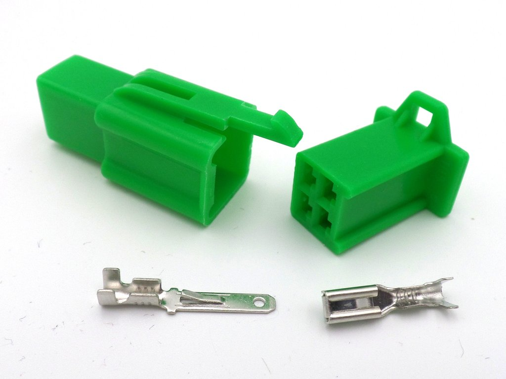 hight resolution of 2 8mm 4 way green mtw mini latch motorcycle wiring loom connector 2 8mm 4 way
