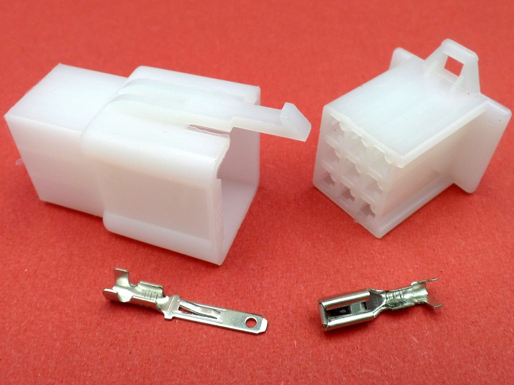 8mm 3 Way White Mtw Motorcycle Wiring Loom Cable Connector