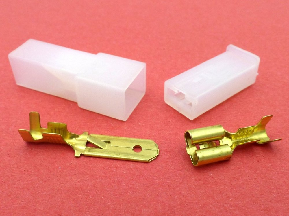medium resolution of 6 3mm 1 way automotive wiring loom connector in white