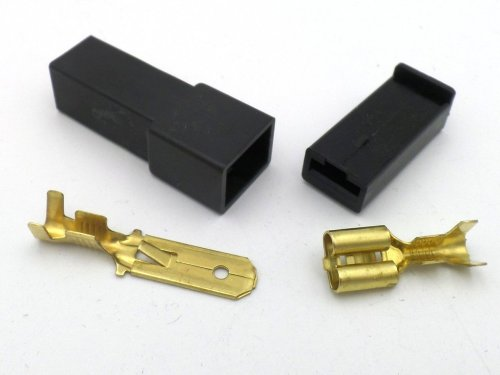 small resolution of 6 3mm 1 way automotive wiring loom connector in black