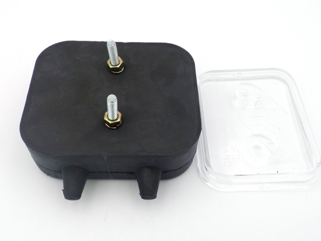 Rubber Automotive Junction Box With Clear Plastic Lid Which Is A Tight