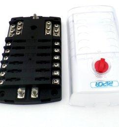 12 pole marine fuse box with common negative bus [ 1024 x 768 Pixel ]