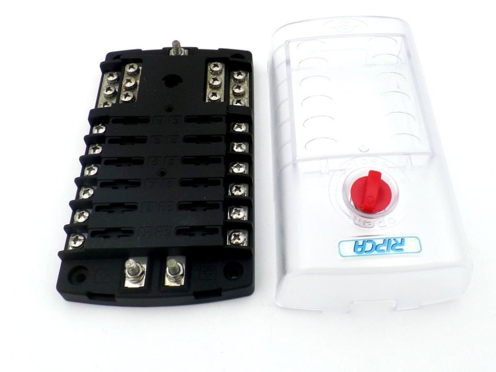 medium resolution of  12 pole marine fuse box with common negative bus