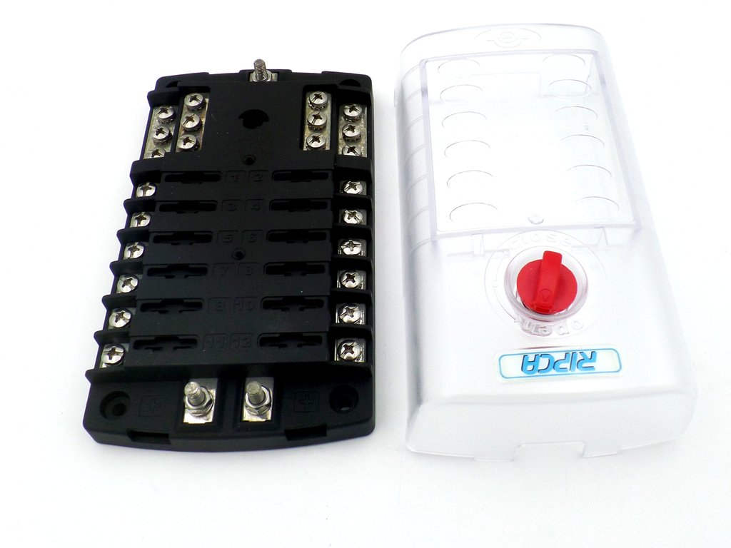 hight resolution of  12 pole marine fuse box with common negative bus