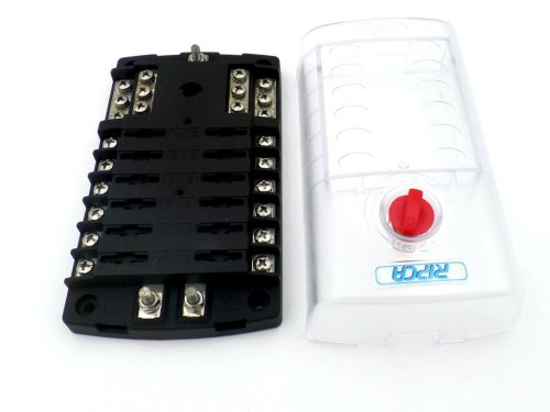small resolution of  12 pole marine fuse box with common negative bus