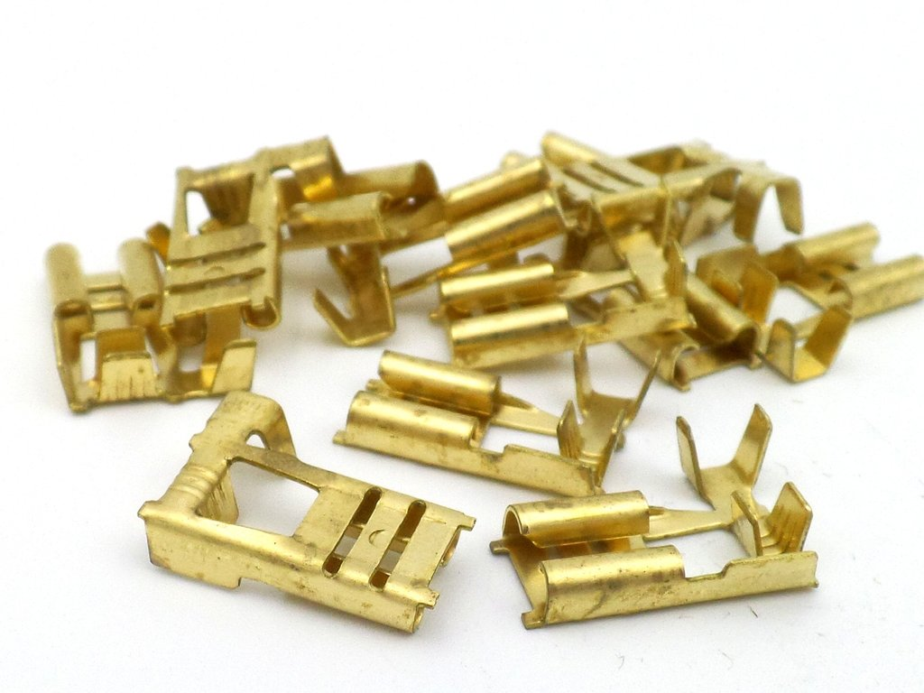 hight resolution of 6 3mm plain brass motorcycle flag terminal 10 pack