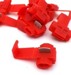 red scotchlok connector 10 pack [ 1024 x 768 Pixel ]