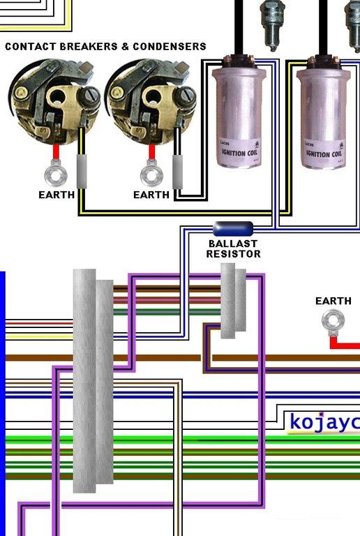 norton commando wiring diagram emanage blue mk3 large colour laminated