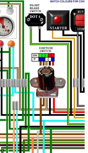 Honda CB4004 CB400F Four UK Spec Colour Wiring Loom Diagram