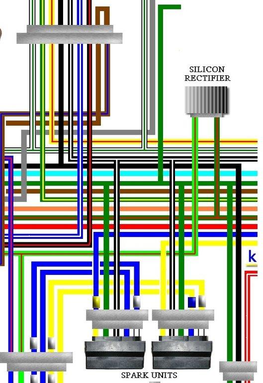 Yamaha Rectifier Regulator Wiring Diagram Honda Cb750c 1980 Usa Spec Colour Wiring Loom Harness Diagram