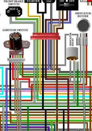 Honda Goldwing Large A3 Colour Wiring Harness Circuit Diagrams