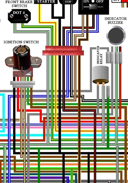 Single Schematic Box Wiring Honda Gl1100 Goldwing 1980 Standard Us Colour Wiring Loom