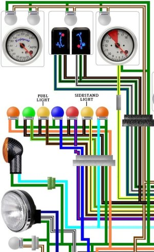 Honda ST1100 Pan European Police Spec Colour Wiring Loom Diagram