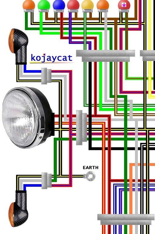Yamaha Rectifier Regulator Wiring Diagram Kawasaki Zx1000a Ninja 1985 1987 Usa Colour Wiring Diagram