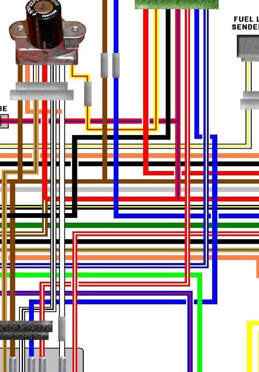kz1000 wiring diagram fender super strat kawasaki a1 a2 usa spec colour motorcycle