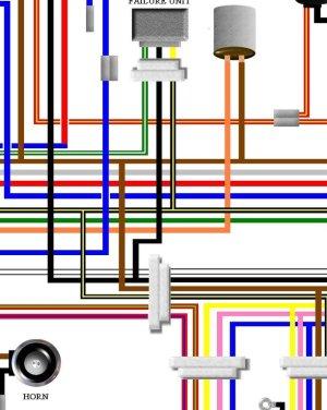 Kawasaki Z900 Z1B USA Canada Spec Colour Wiring Loom Diagram