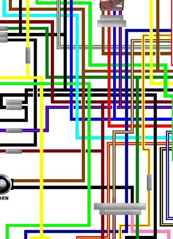 yamaha virago xv 535 wiring diagram 94 ford explorer xv535 1992 03 uk spec colour loom