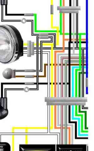 Suzuki GS400, GS425, GS450 Laminated Wiring Circuit Loom