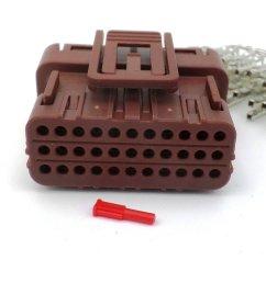 honda 33 way brown ecu cdi wiring harness connector plug  [ 1024 x 768 Pixel ]