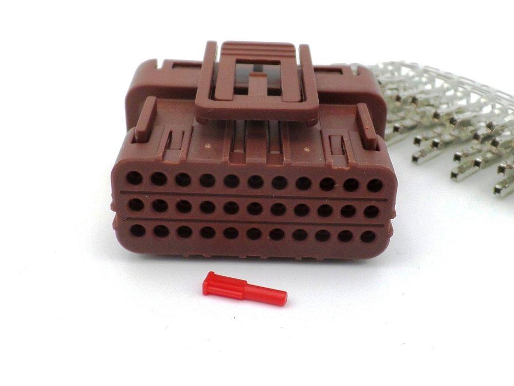 medium resolution of honda 33 way brown ecu cdi wiring harness connector plug