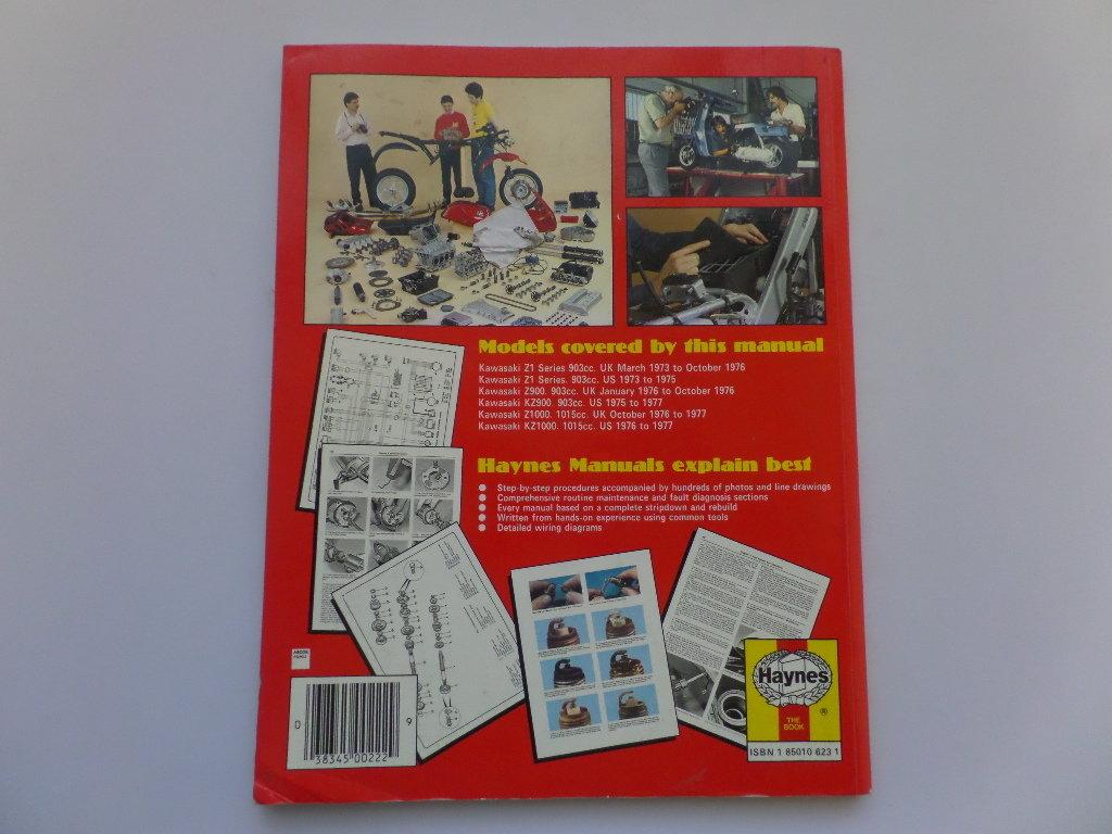 hight resolution of  used kawasaki z1 z900 z1000 haynes manual