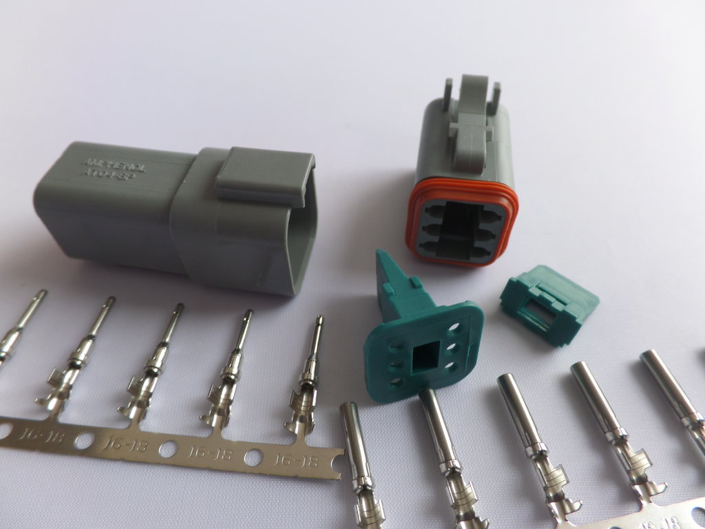 hight resolution of delphi 6 way grey sealed connector
