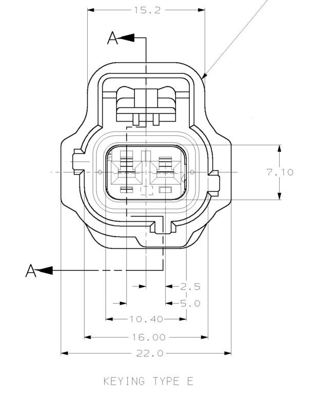 Tyco 2 Way Sealed Sensor Wiring Loom Connector Key Pattern E