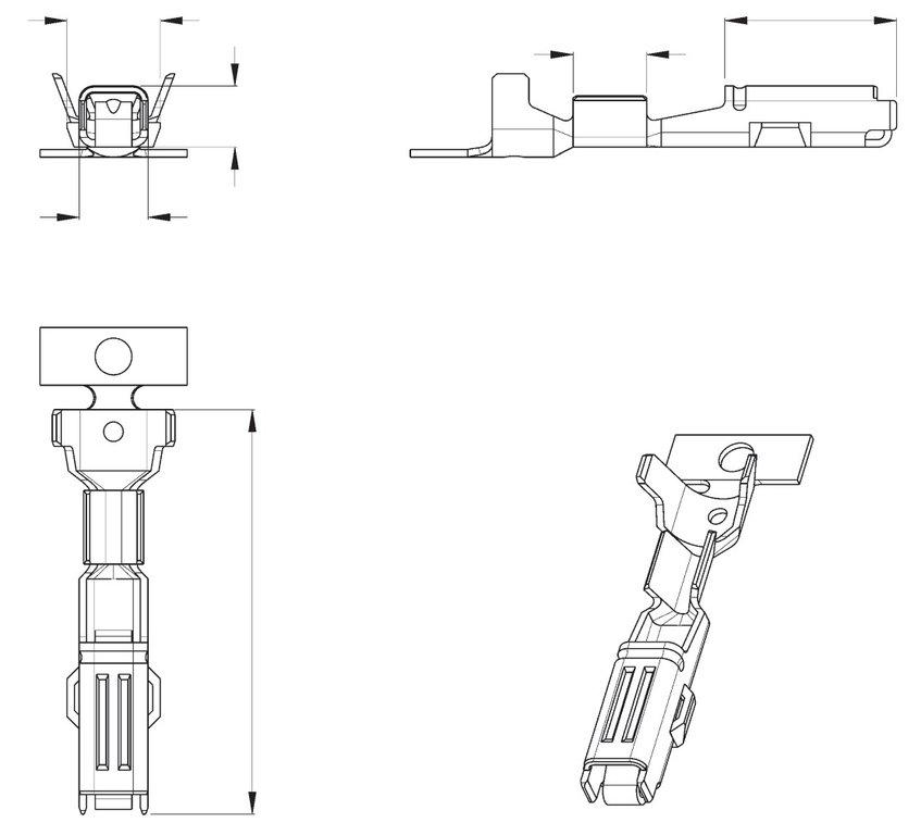 Econoseal J Series Mk11 3 Way Female Wiring Connector 174357-2