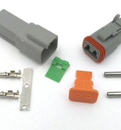 deutsch dt 2 way wiring loom connector dt06 2s dt04 2p  [ 1024 x 768 Pixel ]