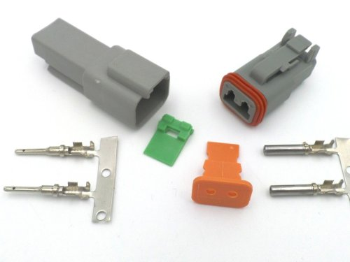 small resolution of deutsch dt 2 way wiring loom connector dt06 2s dt04 2p
