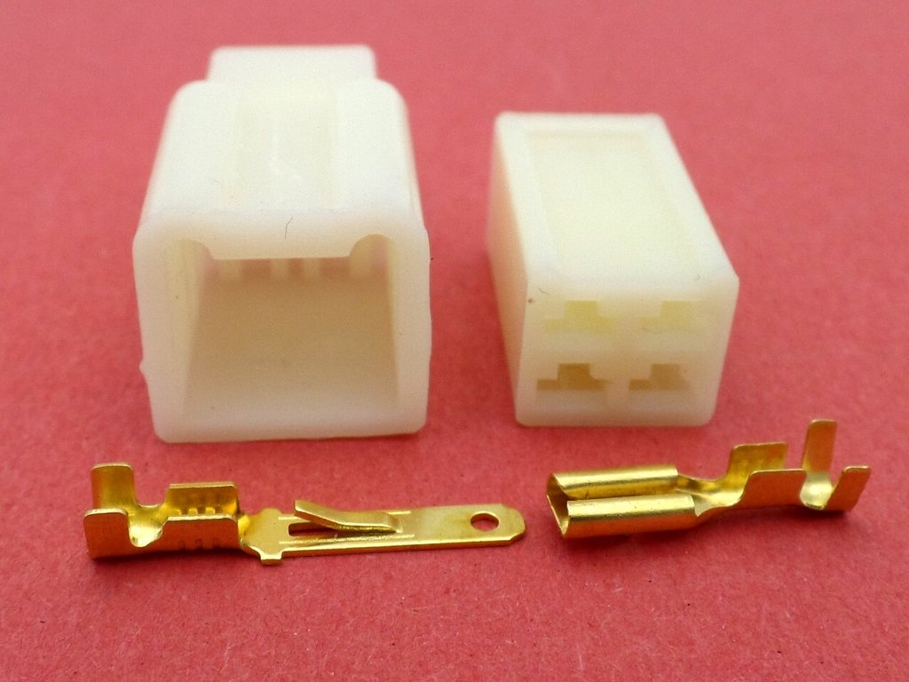 hight resolution of 2 8mm 4 way cream mtw motorcycle wiring loom connector