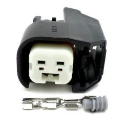 2 way ev6 ev14 ford fiesta st black fuel injector connector  [ 1024 x 768 Pixel ]