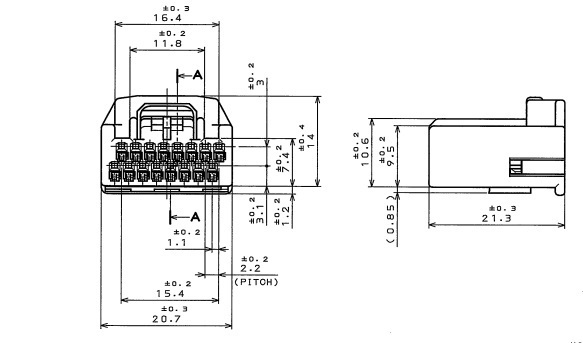16 Way Grey Yamaha FJR Speedo Clocks Wiring Loom Connector