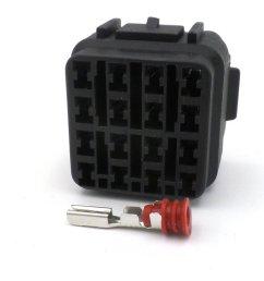 16 way black kawasaki female sealed wiring harness connector  [ 1024 x 768 Pixel ]