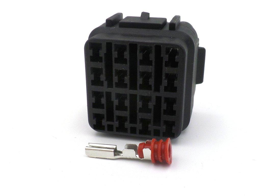 hight resolution of 16 way black kawasaki female sealed wiring harness connector