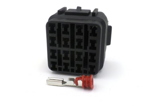 small resolution of 16 way black kawasaki female sealed wiring harness connector