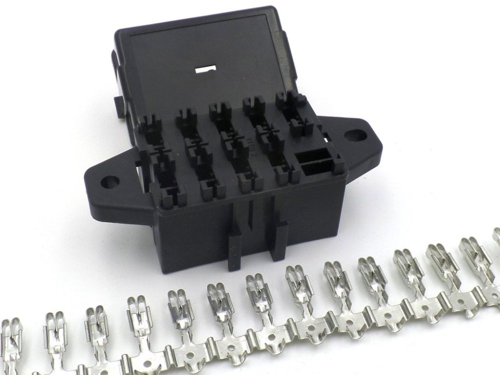 medium resolution of 9 way automotive bottom entry standard blade fuse box terminals