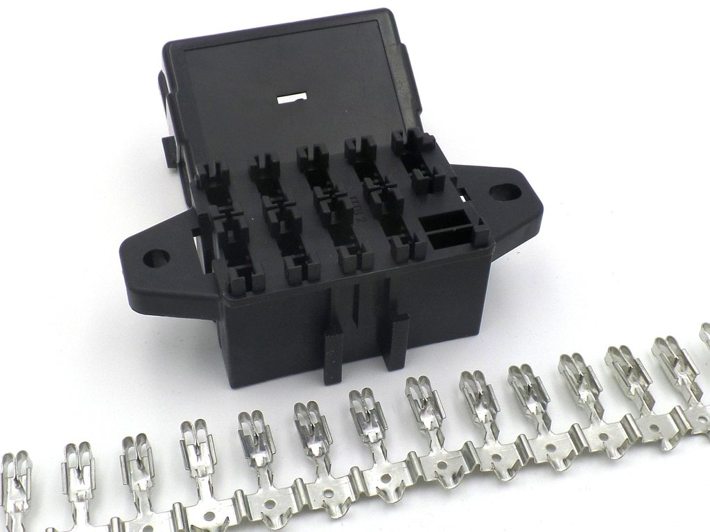 hight resolution of 9 way automotive bottom entry standard blade fuse box terminals