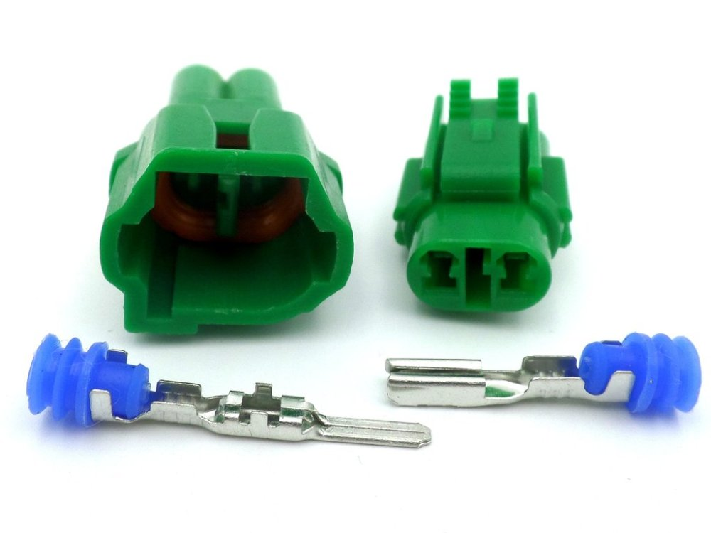 medium resolution of 2 way mt sealed green automotive wiring loom harness connector