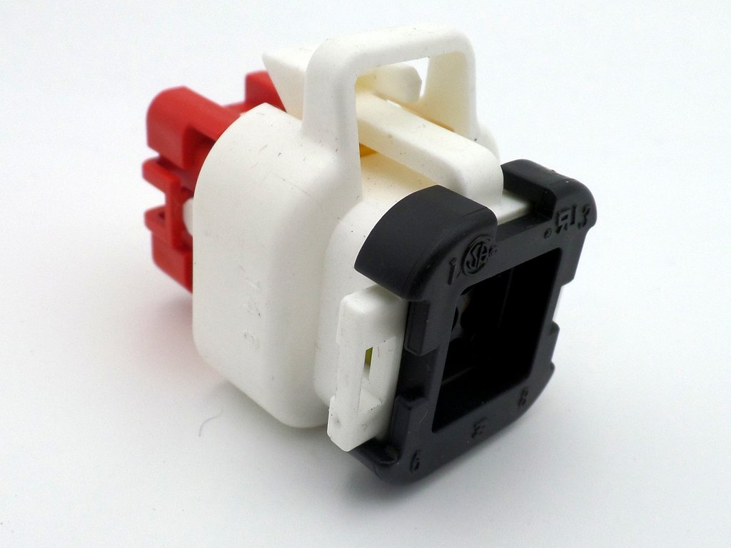 hight resolution of 8 way ampseal 12v female white wiring harness connector plug