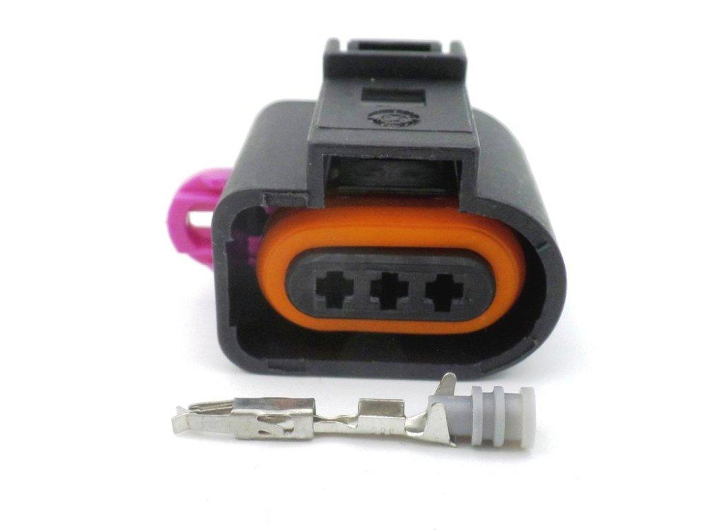medium resolution of 3 way jpt audi vw vag sealed wiring harness loom connector