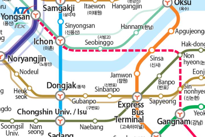 Jeongja Station Subway Map.Shinbundang Line Extension To Open January 30 Kojects