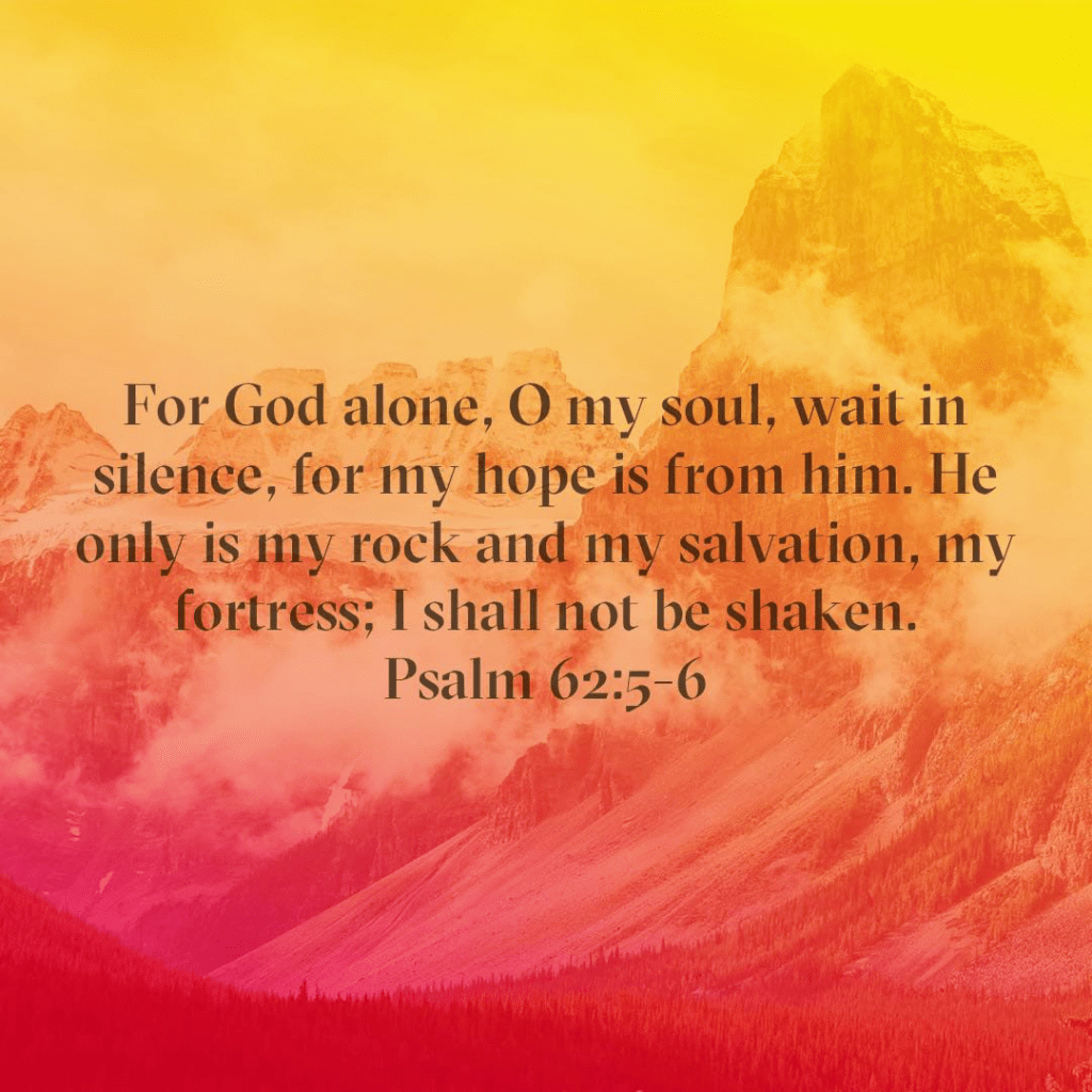 God never promises easy. He does promises he will be with us through everything. God is my rock and my fortress and my salvation. My only task is to not be moved and wait for Him.
