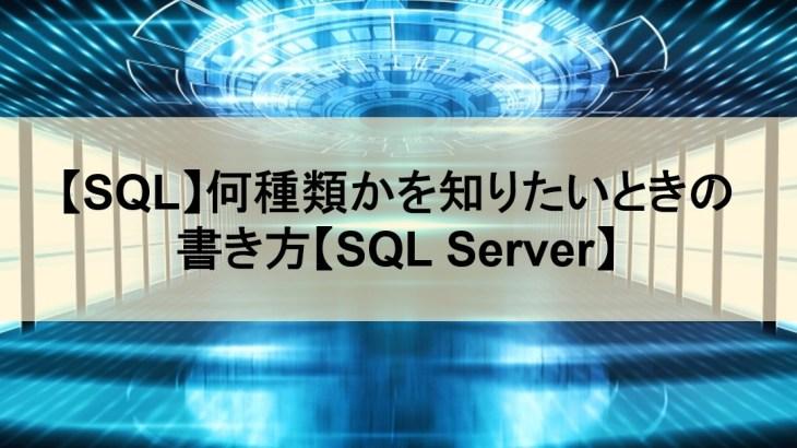 【SQL】何種類かを知りたいときの書き方【SQL Server】