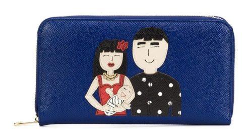 DOLCE & GABBANA Dauphine アップリケ装飾 ファスナー財布