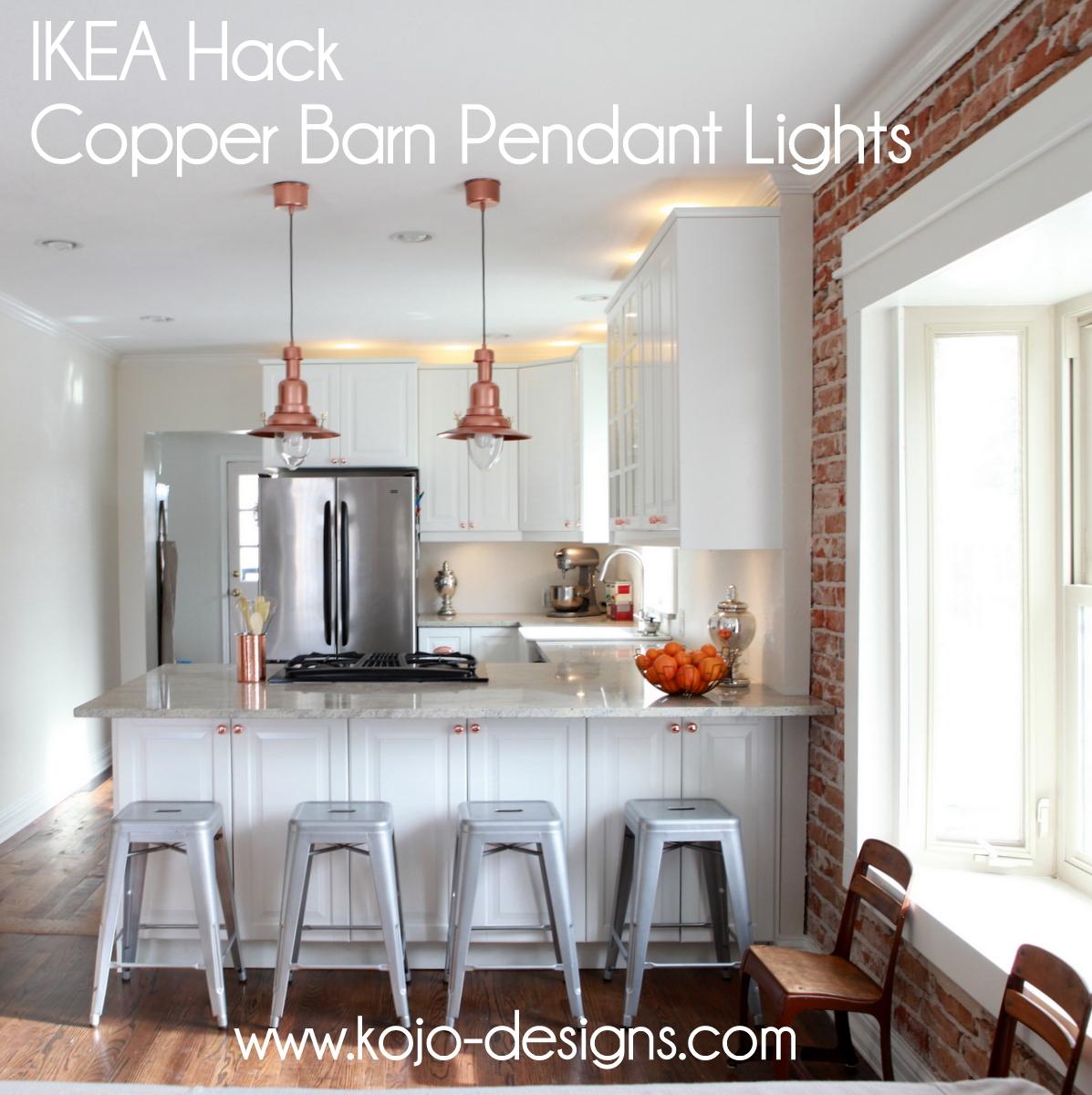 Copper Barn Light Ikea Hack