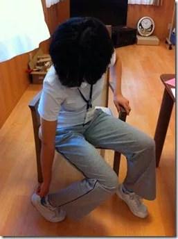 人工股関節置換術靴を履く脱臼肢位